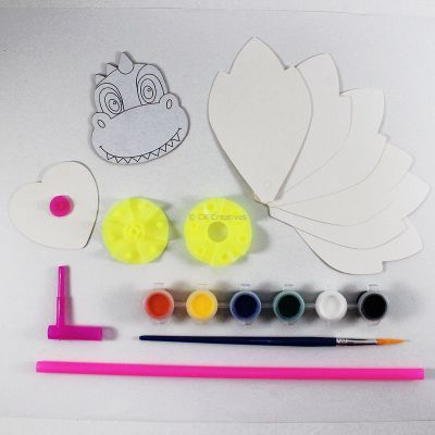 DIY Pinwheel Kit - Dinosaur - Contents