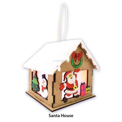 Christmas House Lantern Kit - SantaChristmas House Lantern Kit - Contents