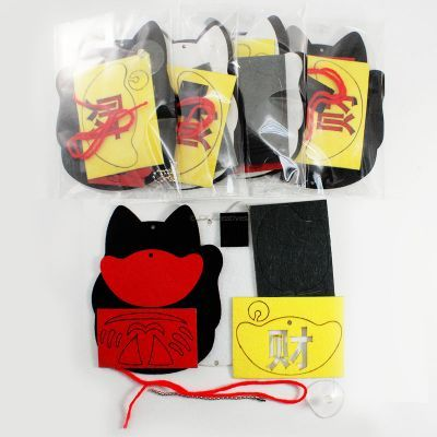 Felt Chinese New Year Fortune Cat Hanger Pack of 5 - Content