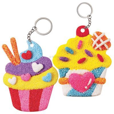 Foam Clay 2-in-1 Cupcake Keychain Kit