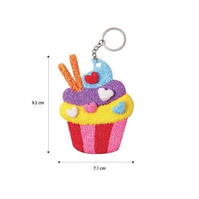 Foam Clay 2-in-1 Cupcake Keychain Size