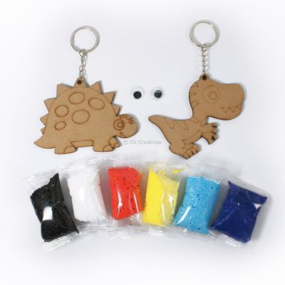 Foam Clay 2-in-1 Dinosaur Keychain Kit - Content