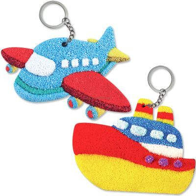 Foam Clay 2-in-1 Transport Keychain Kit - Aeroplane and Ship
