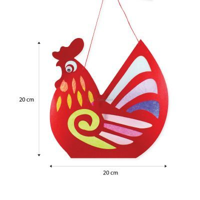 Rooster Lantern Pack of 10 - Size