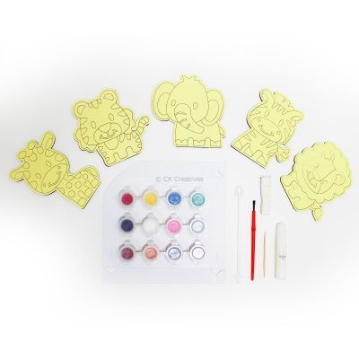5-in-1 Sand Art Animal Board Kit - Contents