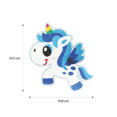 5-in-1 Unicorn Sand Art Magnet - Size