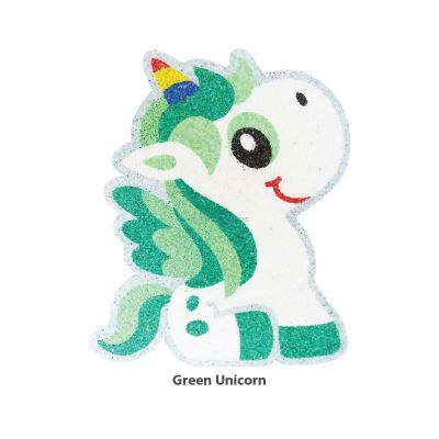 5-in-1 Unicorn Sand Art Magnet - Green  Unicorn
