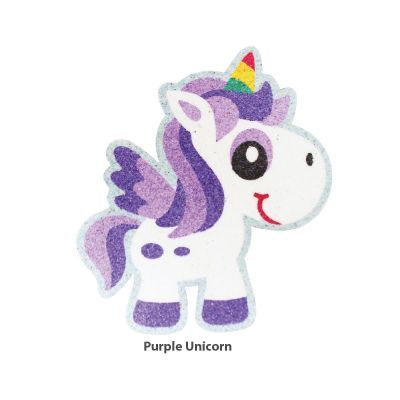 5-in-1 Unicorn Sand Art Magnet - Purple  Unicorn