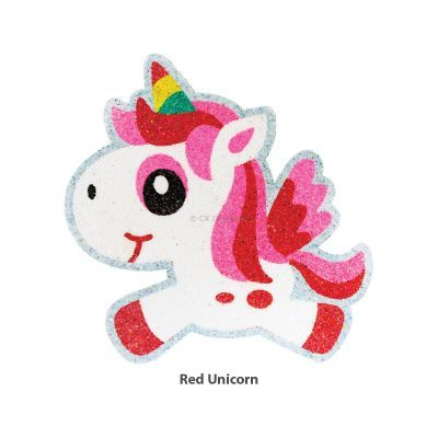 5-in-1 Unicorn Sand Art Magnet - Red  Unicorn
