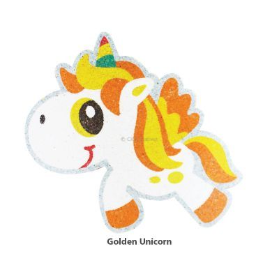 5-in-1 Unicorn Sand Art Magnet - Golden  Unicorn
