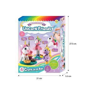 Unicorn Friends Clay Box Kit - Size