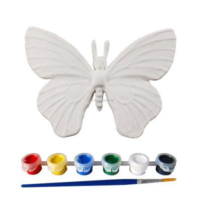 3D Animal Paper Mache Painting Kit - Butterfly - Contents