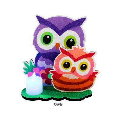 3D Candlelight Sand Art - Owl