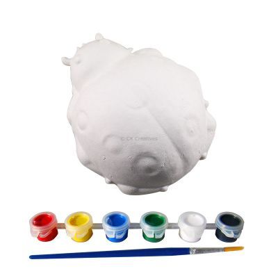 3D Animal Paper Mache Painting Kit - Ladybird - Contents