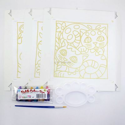 Batik Painting 3-in-1 Kit - Kitty Cat! - Contents
