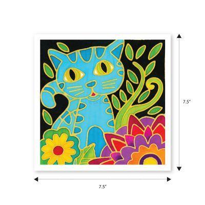 Batik Painting 3-in-1 Kit - Kitty Cat! - Size
