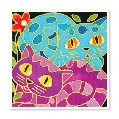 Batik Painting 3-in-1 Kit - Kitty Cat!
