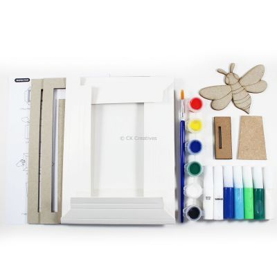 Pour Art Painting Kit With 3D Frame - Insects Theme - Contents