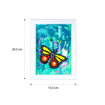 Pour Art Painting Kit With 3D Frame - Insects Theme - Size