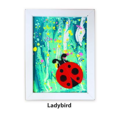 Pour Art Painting Kit With 3D Frame - Insects Theme - Ladybird