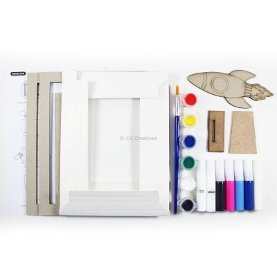 Pour Art Painting Kit With 3D Frame - Space Theme - Contents