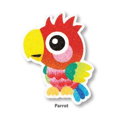 5-in-1 Sand Art Bird Board - Parrot