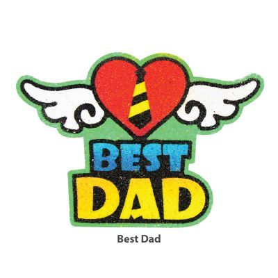 5-in-1 Sand Art Father's Day Board - Best Dad