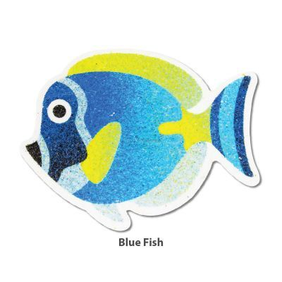 5-in-1 Sand Art Fish Board - Blue Fish
