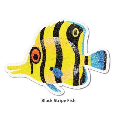 5-in-1 Sand Art Fish Board - Black Stripe Fish
