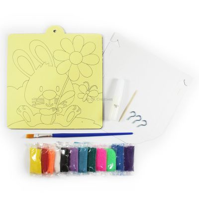Sand Art Key Hanger Board Kit - Contents