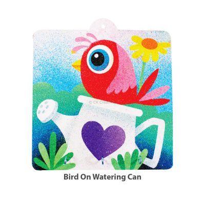 Sand Art Key Hanger Board Kit - Little Bird on Watering Can