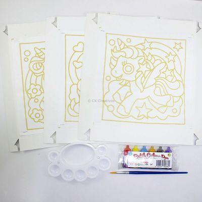 Batik Painting 3-in-1 Kit - Unicorns! - Contents