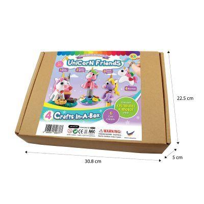 Unicorn Friends Clay Kraft Box Kit - 4-in-1 - Box Size