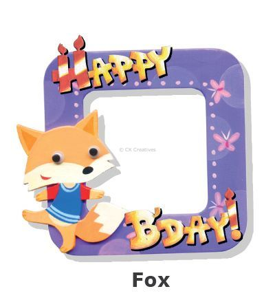 Create Your Own Photo Frame Kit - Fox