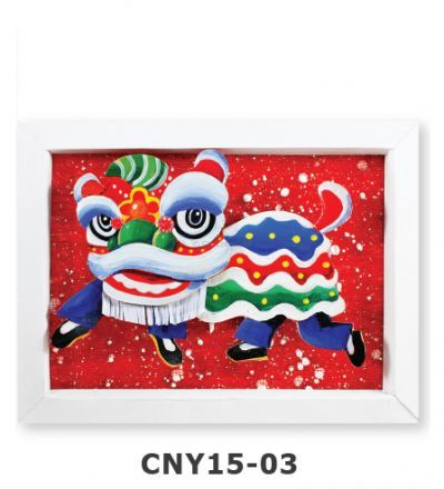 Chinese New Year Frame Deco - Lion Dance