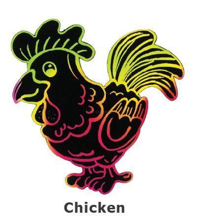 Scratch Art Farm Animal - Chicken
