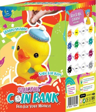 Silicone Coin Bank Painting Series D - Kit - Packaging Back