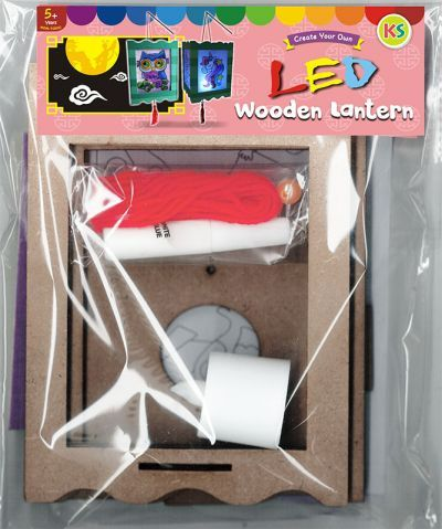 LED Wooden Lantern Kit - Packaging Front