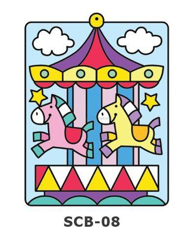Suncatcher Board Painting Kit - Carnival Carousel