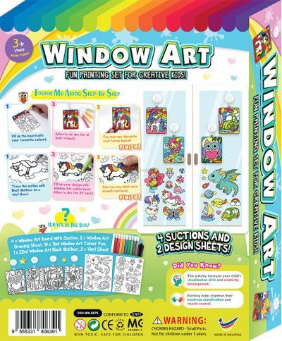 Window Art Fun Painting Box Set - Packaging Back