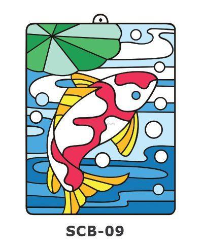 Suncatcher Board Painting Kit - Koi Fish