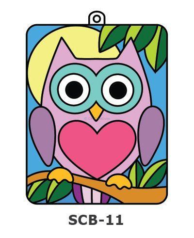 Suncatcher Board Painting Kit - Owl