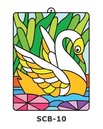 Suncatcher Board Painting Kit - Beautiful Swan