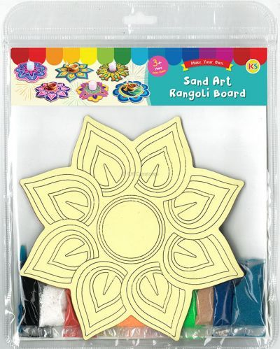 Sand Art Rangoli Board Kit - Packaging Back