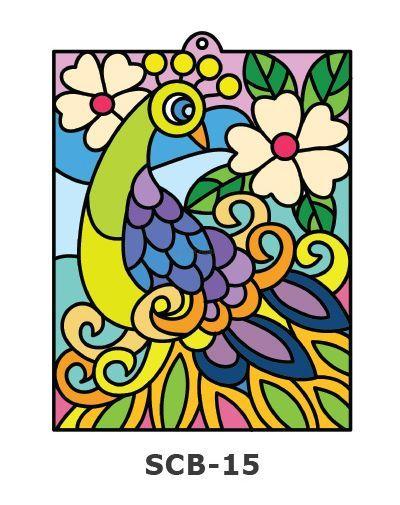 Suncatcher Board Painting Kit - Peacock Flower