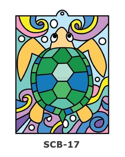 Suncatcher Board Painting Kit - Sea Turtle