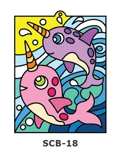 Suncatcher Board Painting Kit - Narwhals