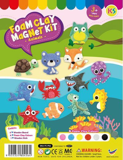Foam Clay Magnet Kit