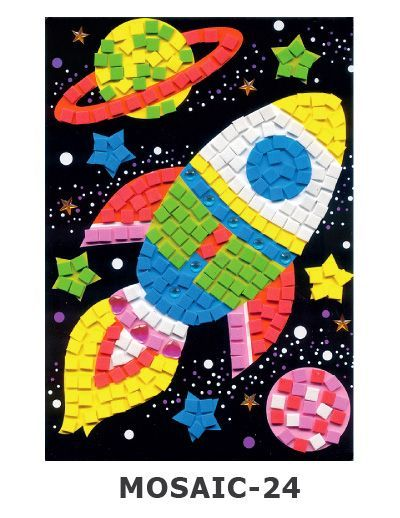 Mosaic Foam - Space Rocket