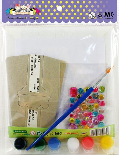 Canvas Art Medium With Jewel Sticker - Kit - Packaging Back